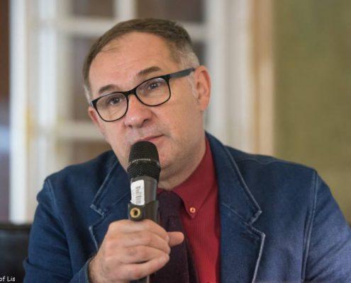 Janusz Drzewucki Jacek Moskwa w Salonie Literackim