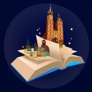 otwarta książka i Kościół Mariacki
