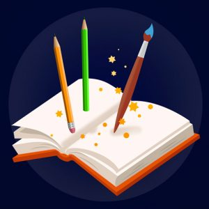 Kolorowa otwarta książka