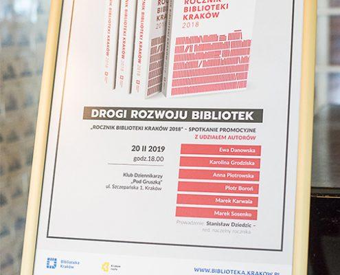 Plakat promujący Rocznik Biblioteki Kraków