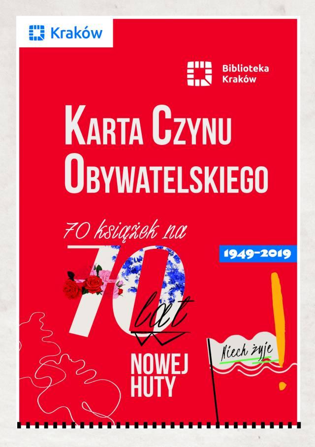 Plakat 70 lat Nowej Huty