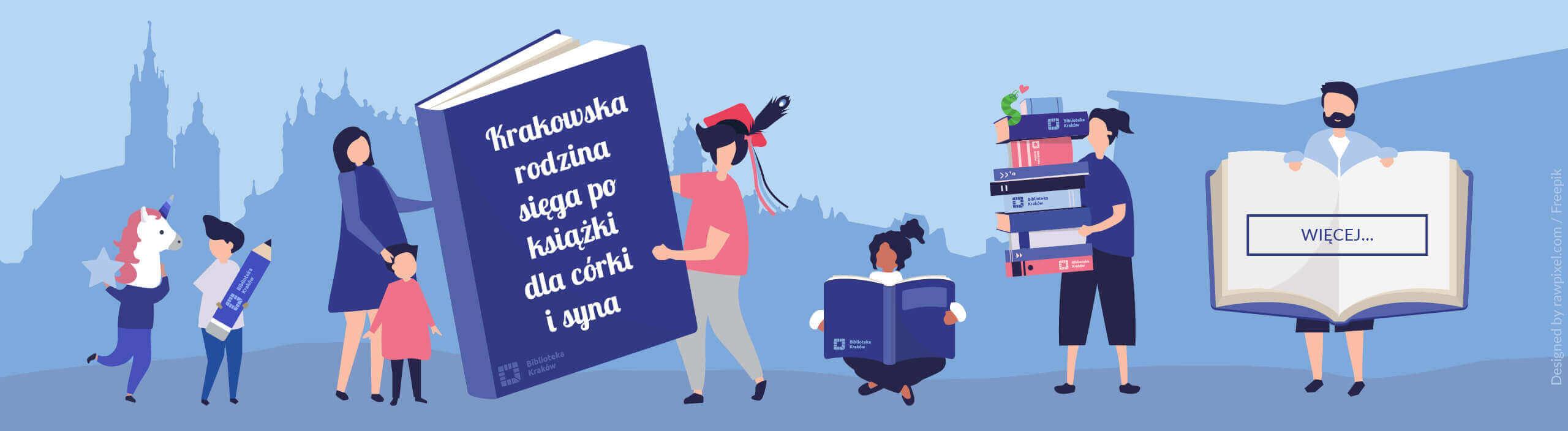 krakowska rodzina czytająca książki