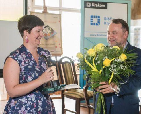 Małgorzata Zając podczas wręczenia Nagrody Żółtej Ciżemki
