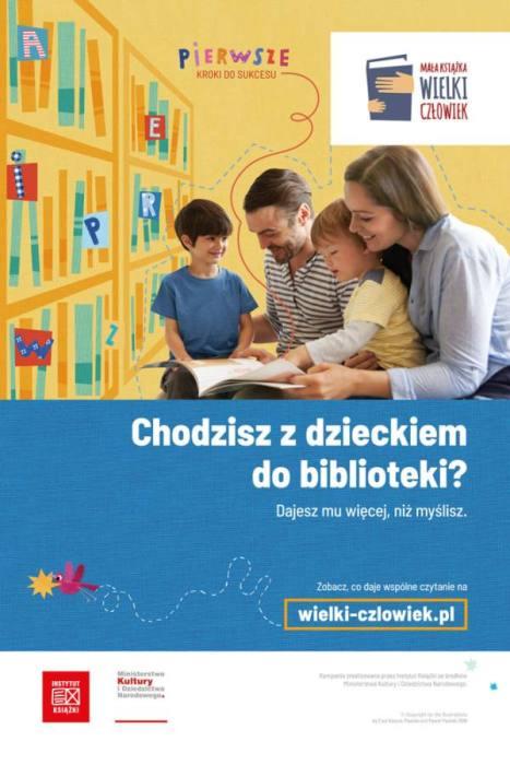 Plakat Mała książka wielki człowiek