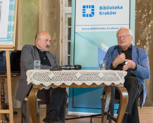 Stanisław Janicki i Andrzej Pacuła w Salonie Literackim