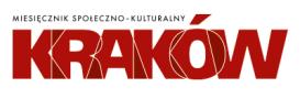 Logo napis Miesięcznik Kraków